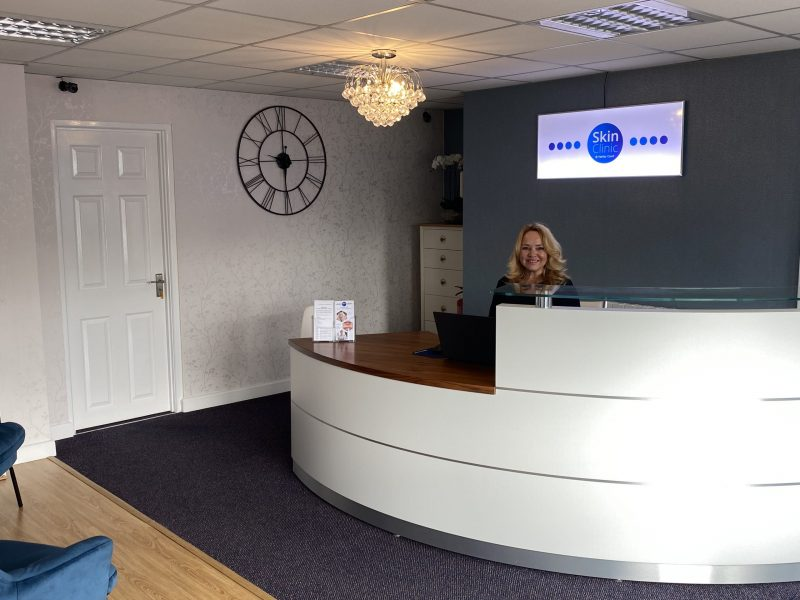 west parley reception area